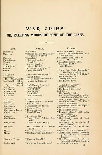 027a-Gritos de guerra de algunos clanes escoces