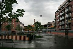 Plaza negra (Jorge Franganillo) Tags: barcelona plaza espaa square spain solitude loneliness noone nobody lonely soledad solitario frum poblenou nadie solitud solitari soledat ning