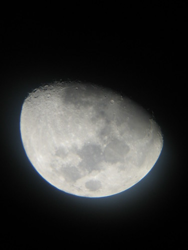 Moon through the telescope