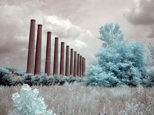 Homestead Stacks. digital infrared