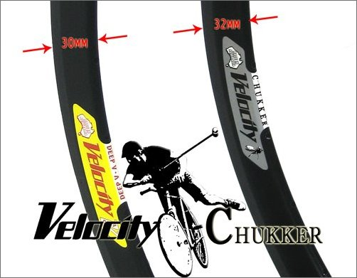 velocity chukker rim Height bike polo