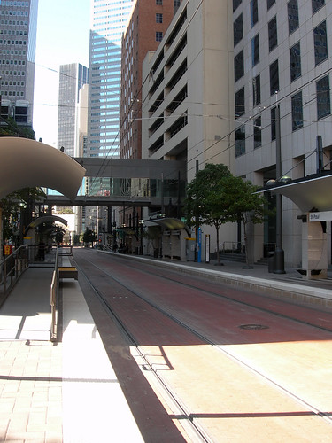 Dallas Transit Mall on Bryan Street