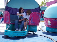 van04g14 Playland Rides, Vancouver BC 2004 (CanadaGood) Tags: blue people canada color colour green 2004 vancouver person friend bc purple britishcolumbia magenta amusementpark pne eastvancouver 2000s canadagood