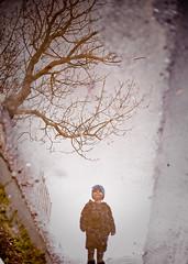 Friðrik Darri (Pezti) Tags: blue boy 3 reflection tree wet rain puddle prime iceland boots reykjavik april 2009 isl asfalt canoneos1dsmarkii darri friðrik pétursson péturgeirkristjánsson friðrikdarripétursson canonef50mmf14f20