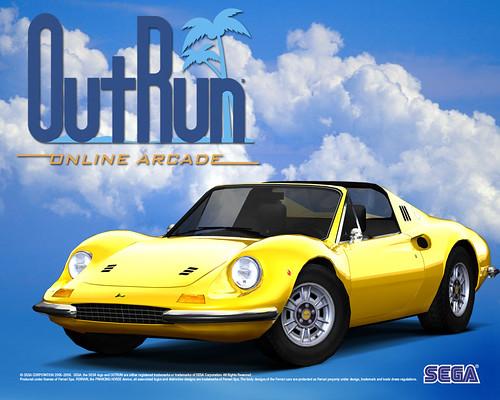 OutRun Online Arcade - Ferrari Dino 246 GTS