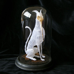 Paper and Wire Sculpture: The Sharp-beaked hound of Zeus