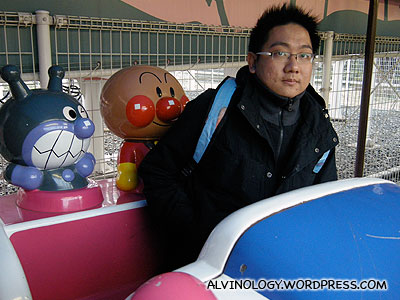 Me with Anpanman and his friend