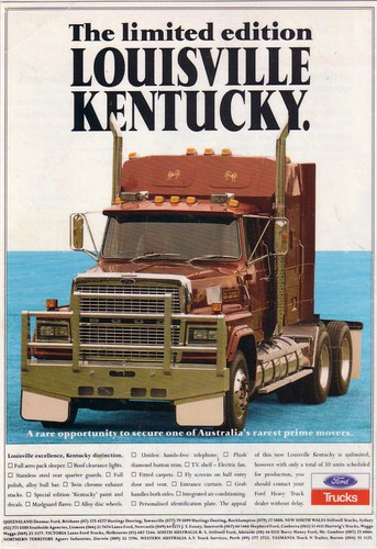 1992 Ford LTL 9000 Louisville Kentucky Truck Ad