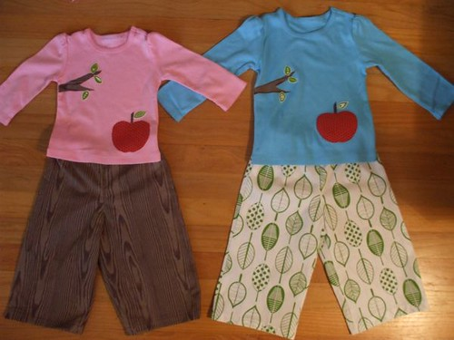 appliqued shirts and handmade pants!