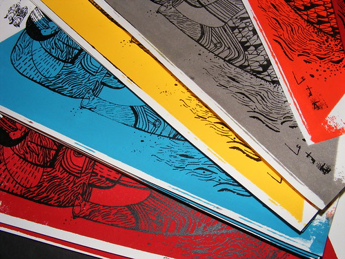 Screenprints close-up