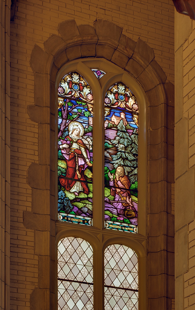 Former Daughters of Charity chapel, at the University of Missouri - Saint Louis, in Normandy, Missouri, USA - stained glass window 6