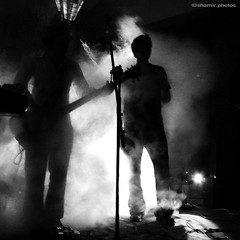 Concert: Shironamhin (shamirBK) Tags: shadow bw silhouette rock metal fog blackwhite concert singing song smoke band melody bangla progressiverock buet bwartaward shironamhin