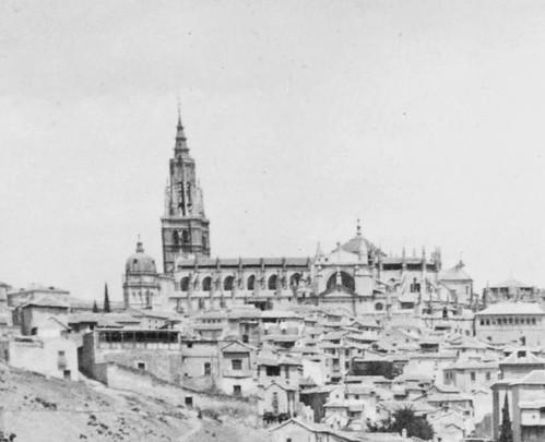 Catedral de Toledo en 1903 aún con el Cimborrio en pie