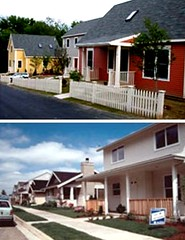 two views of 8 houses per acre (from Massachusetts Smart Growth/Energy Toolkit)