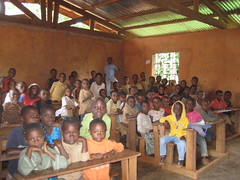 Students at the Nomedjo Primary school