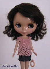 Audrey is modelling a pink top by... well, me!