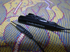 audio-technica iPhone/iPod専用マイク付きヘッドホンアダプター AT335i BK