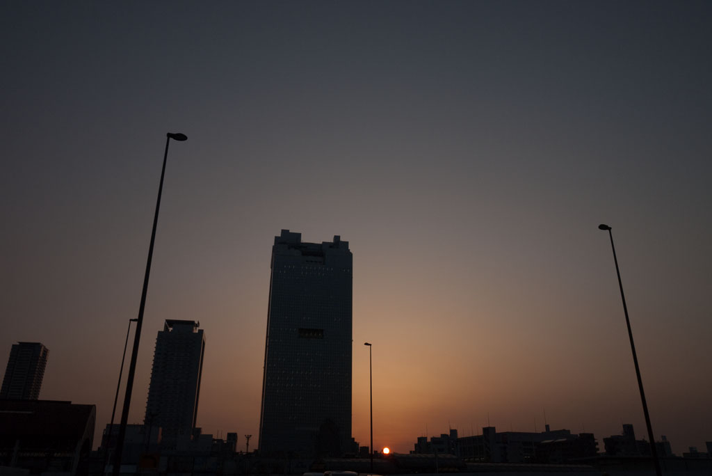 the sunset at the north of Umeda, Osaka