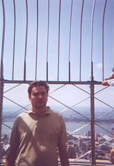 Andrew at the top of the Empire State Building
