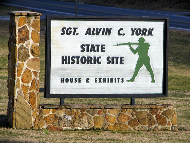 Entrance to Alvin C York Historic Site