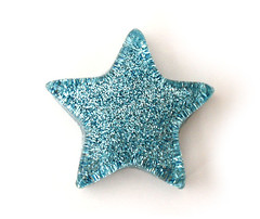 Aquamarine Medium Star Necklace