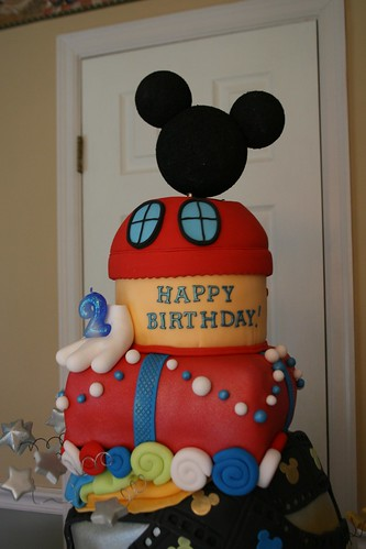 Mickey Mouse Fondant birthday cake for my boy