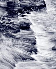 Chaos (Mike Chong) Tags: ocean longexposure sunset sea blackandwhite bw seascape abstract water canon landscape rocks waves nightscape dusk sydney australia slowshutter watsonsbay waterscape 70200f4l 40d thegappark