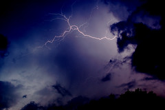 Lightening (mivan_via) Tags: sky storm nature rain weather clouds lightening nrtingen aplusphoto