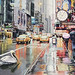 """Detour"" New York Watercolor, Paul Jackson"