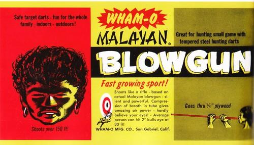 Malayan blowgun ad
