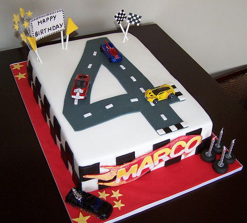 Marvelous Hot Wheels Cake A Photo On Flickriver Funny Birthday Cards Online Alyptdamsfinfo