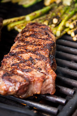 Grilled strip steak (Another Pint Please...) Tags: beef meat grill steak weber s650 summit650
