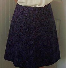 18bdc1e86253 Butterick B4710 Skirt (KathyCe) Tags  floral purple skirt cotton butterick  b4710