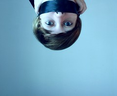 voice within silence (Ally Newbold) Tags: blue portrait selfportrait slr me girl youth digital self canon hair myself allison photography rebel bigeyes eyes young voice teen silence teenager killa ribbon tones meh speedlite xti