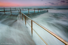 Overflow (-yury-) Tags: ocean beach water pool sunrise canon tide sydney wave australia 5d monavale overflowing cokin