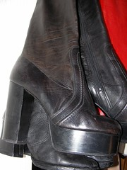 Manfield 1970's Platform Knee High Leather Boots (manfields) Tags: leather high boots platform 1970s knee manfield