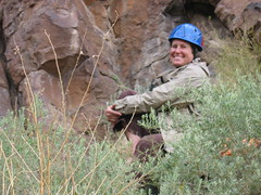 Ann Ready to Climb in Diablo Canyon