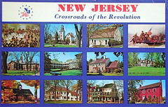NJ Crossroads of the Revolution postcard (Smaddy) Tags: newjersey elizabeth postcard nj somerville princeton revolutionarywar morristown georgewashington 1980s 1985 1776 trenton nassauhall haddonfield ringwood wallacehouse ringwoodmanor batstovillage oldbarracks fordmansion boxwoodhall indiankingtavern