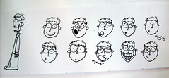 The Many Faces of... (Eraser Assassin) Tags: people pen faces emotion drawing expressions