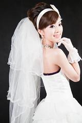 (swanky) Tags: portrait people woman cute girl beauty canon asian eos model asia pretty taiwan babe bridal  bridalveil 2009 taiwanese  mikako bridaldress    mikako1984  5dmarkii 5d2 5dmark2