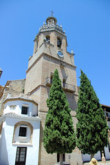 Ronda's Old Main Square (cwgoodroe) Tags: summer costa white hot sol beach del bells spain ancient europe churches sunny bull bullfighter adobe ronda moors walls washed clothesline protective newbridge roda bullring stonebridge oldbridge spainish whitehilltown rondah spanishdoors
