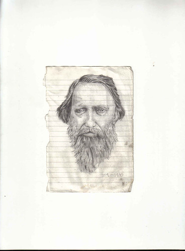 Zavier Ellis 'Mad Genius #5', 2006 Pencil on paper 14.8x10.7cm