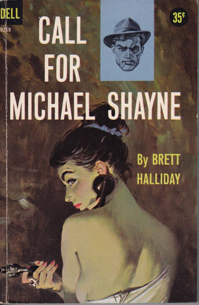5 Mike Shayne Mystery PBs, Brett Halliday, Only Lightly Used, #7