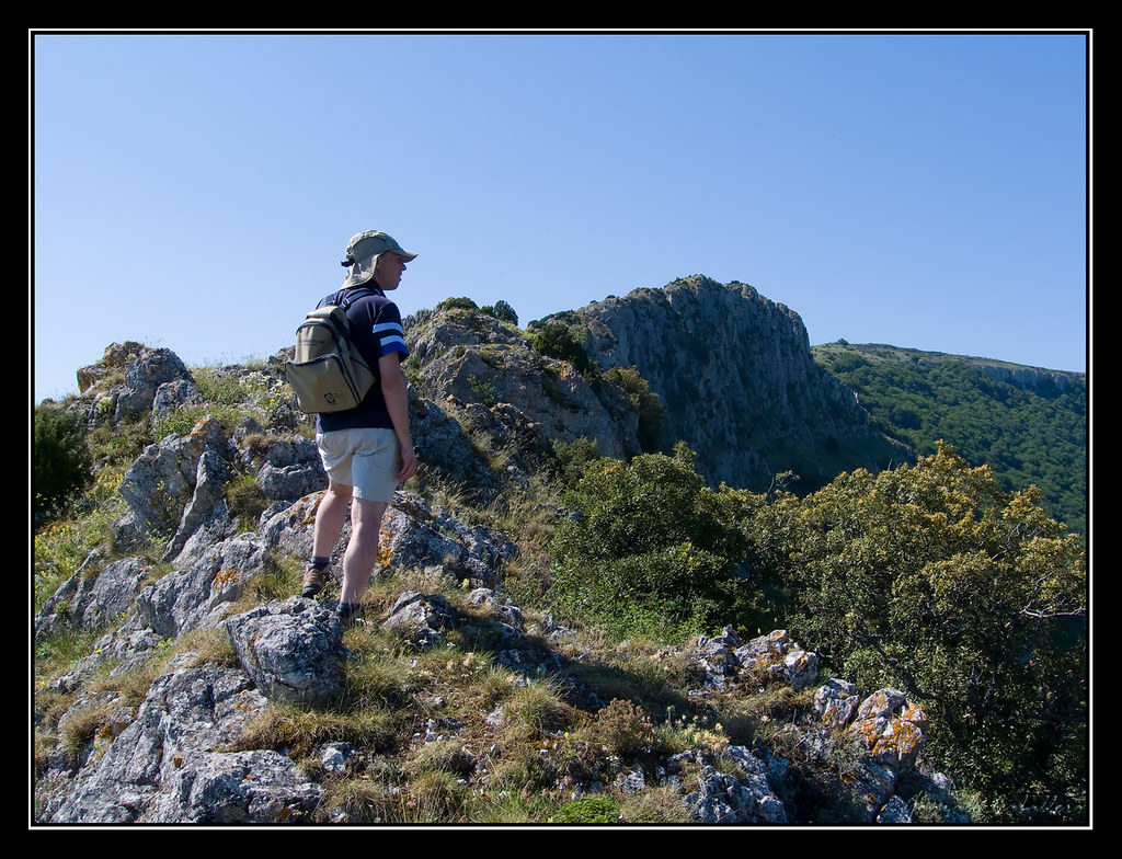 Subiendo al Mortxe por la cresta norte