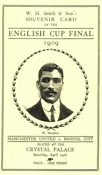 1909 FA Cup Final souvenir card