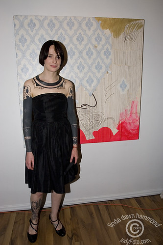 Emilie Roby, tattoo and fine artist . Opening June 5, 2009.