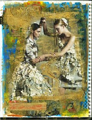 Tango Tangle (Imajica Amadoro) Tags: collage design acrylic mixedmedia alteredbook bookart artistsbooks mommsen catherinelmommsen