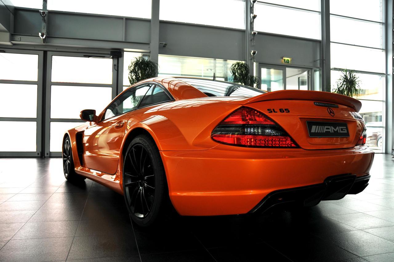 Lamborghini Orange Mercedes SL65 AMG Black Series - Mercedes-Benz ...