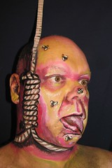 Hanging Out. (hawhawjames) Tags: art face painting james fly paint artist body makeup hanging 365 kuhn noose flys hangmans