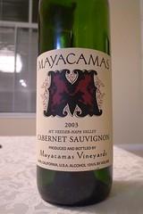 2003 Mayacamas Mount Veeder Cabernet Sauvignon